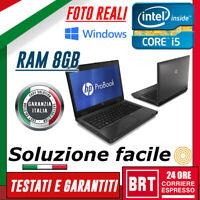 "PC NOTEBOOK PORTATILE HP PROBOOK 6470B 14"" CPU i5 3GEN 8GB RAM BUONO! +WIN 10!!!"