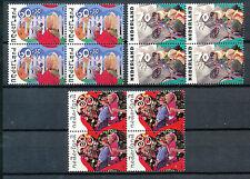 Nederland 1483 - 1485 postfris in blokken van vier