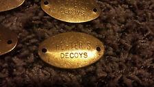 vintage NOS brass tags Herters Decoys lot 0f 10 memorabilia waterfowl