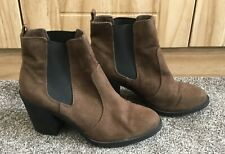 H&M WOMEN SHOES HEELS ANKLE BOOTS SIZE 5UK/38E brown