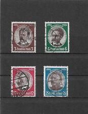 Deutsches Reich,1934 Michelnummern: 540 - 543 o, gestempelt, Katalogwert € 38,00