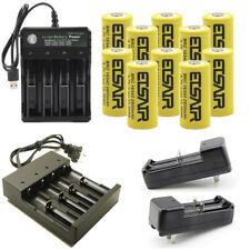 USA 2800mAh Rechargeable 16340 Battery CR123A 3.7V Li-ion  Smart Charger