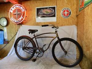 1952 SCHWINN DX MENS BALLOON TIRE BICYCLE PHANTOM EXCELSIOR TANK? HORNET RAT ROD