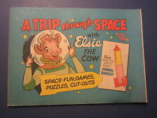 Old Vintage 1950's ELSIE The COW - Trip Through Space Advertising COMIC - BORDEN