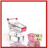 Coles little shop Shopping Trolley Rose Pink and pink basket