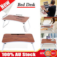 AU Portable Adjustable Folding Laptop Study Desk Sofa Bed Side Table Stand Tray