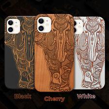 Elephant 2  Wood Case iPhone 13/12/11/11 Pro/Max/Mini, X/XR/XS Max
