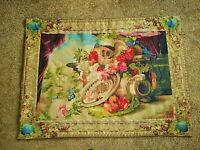 """Gobly's Tapestry Mandolin & Fruit 40"""" x 54"""" Wool & Cotton, Made in France"""