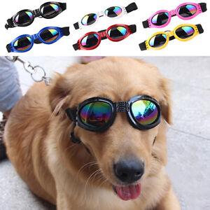 PET DOG FASHION UV  SUNGLASSES FOLDABLE GOGGLES ADJUSTABLE EYE WEAR