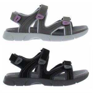 Khombu Ladies/' Comfort Sandal Black 6