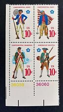 US Stamps, Scott #1565-68 10c 1975 Corner Block of 4 with #'s XF/Superb M/NH