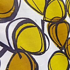 Vtg 1950s Dress Fabric MCM Chartreuse Silky Mod Abstract Design Yardage 3+ Yds