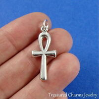 .925 Sterling Silver ANKH CHARM Ancient Egyptian Symbol PENDANT *NEW*