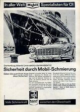 Mobiloil-- Sicherheit durch Mobil Schmierung--Werbung von 1965