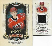 "Brandon Sutter - 2008-09 UD Champ's ""Rookie"" RC (#166) + ""Mini-Threads"" (#CT-BD)"