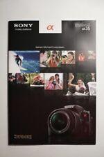 Sony Alpha 35 folleto, 20 páginas, 2011, APS-C