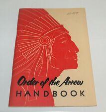 BSA - OA…ORDER OF THE ARROW HANDBOOK…1959 PRINTING