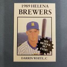 1989 Sports Pro HELENA Brewers #25 DARRIN WHITE Cypress TEXAS Baseball Card