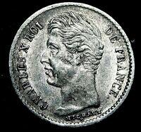 1828 A FRANCE  1/4 FRANC SILVER  COIN UNC  CONDITION  PARIS MINT  A17-439