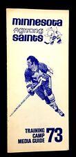 1973 Minnesota Fighting Saints WHA Media Training Camp Guide Vintage Hockey