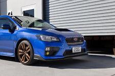 S207 Style PU Front Lip For MY14-17 Subaru WRX / STI Pre-Facelift (SATIN BLACK)
