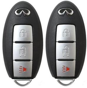 set of 2 New Prox Fob Smart Key FX35 FX50 EX35 2008-2013 / QX50 14-16 3-Btn A+++