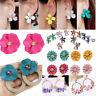Women Elegant Boho Ear Stud Crystal Flower Drop Long Dangle Earrings Jewelry