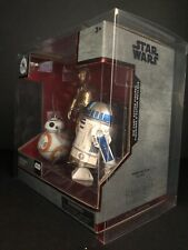 Star wars ELITE SERIES DIE CAST Droid Cadeau Pack C-3PO R2-D2 BB-8 Display Case