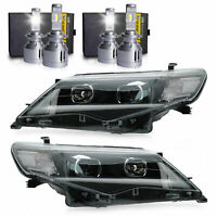 Custom Projector LED Headlights+H7 LED Bulbs*2 for 2012-2014 Toyota Camry