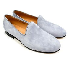 157a01bcbc84f NWT  330 Del Toro Men s Gray Suede Prince Albert Loafers Slippers 8  AUTHENTIC
