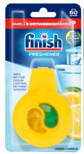 Finish Dishwasher Freshener Lemon Sparkle With Scent Control Up to 60 Washes