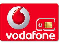 1 x VODAFONE UK PAY AS YOU GO 3G 4G RED SIM CARD NEW VODAPHONE VODA NETWORK PAUG
