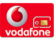 1 x vodafone uk pay as you go 3G 4G Rouge carte sim nouveau réseau Vodaphone Voda paug