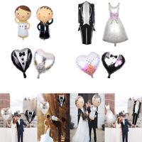 Aluminium Foil Balloons Marriage Groom Bride Tuxedo Dress Wedding Party Decor