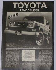 Advert Pubblicità 1985 TOYOTA LAND CRUISER BJ 70