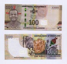 New:SWAZILAND 100 Emalangeni  Banknote (2018) - UNC  - Pick New 2018