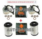 2X Royal Enfield Himalayan Oil Filter with Seal/Gasket/Washer & Air filter Pair