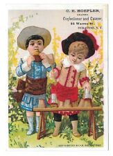 1882 A B Seeley Victorian Trade Card Confectioner Hoefler Syracuse NY Children
