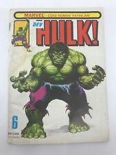 HULK #6 - Foreign Comic Book - 1980s 80s - MARVEL - VERY RARE - 4.0 VG