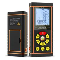 120M LCD Handheld Digital Laser Distance Meter Range Finder Measure Diastimeter