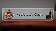 "Havana Club Cuban Ron metal sign  6"" x 24"""