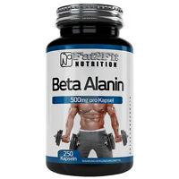 Beta Alanin 250 Kapseln je 500mg Fitness Sport Muskeln Fat2Fit Nutrition