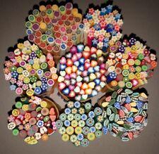 100 Stangen Fimo Nailart Nails Mix Restposten Herz Blume Blätter Tiere Obst etc.