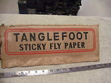 Vintage 1940s era Tanglefoot Sticky Fly paper Box Side Panel , Cut From Orignal