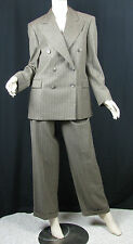 "Ralph Lauren Womens Brown 100% Wool Pant Suit Inseam 29.5"" Waist 27 Sz 6 NWT Vtg"
