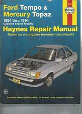 FORD TEMPO AND MERCURY TOPAZ AUTOMOTIVE REPAIR MANUAL - 1984 - 1994