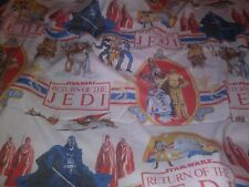 Vintage  1983 Star Wars  Return Of The Jedi Twin Flat  Sheet  Bedding Awesome