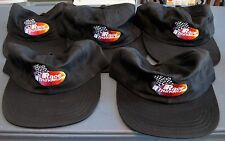 LOT OF FIVE BLACK RACE THUNDER HATS/CAPS BUCKLE FASTENER NEW. FREE US SHIPPING