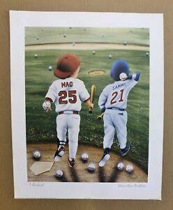 Mark McGwire & Sammy Sosa 20 x16 Baseball Animated Baby Print