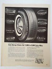 "Vintage 1964 Post Gates Tire Advertisement 13.5 x 10.5"" Gates Rubber Company"